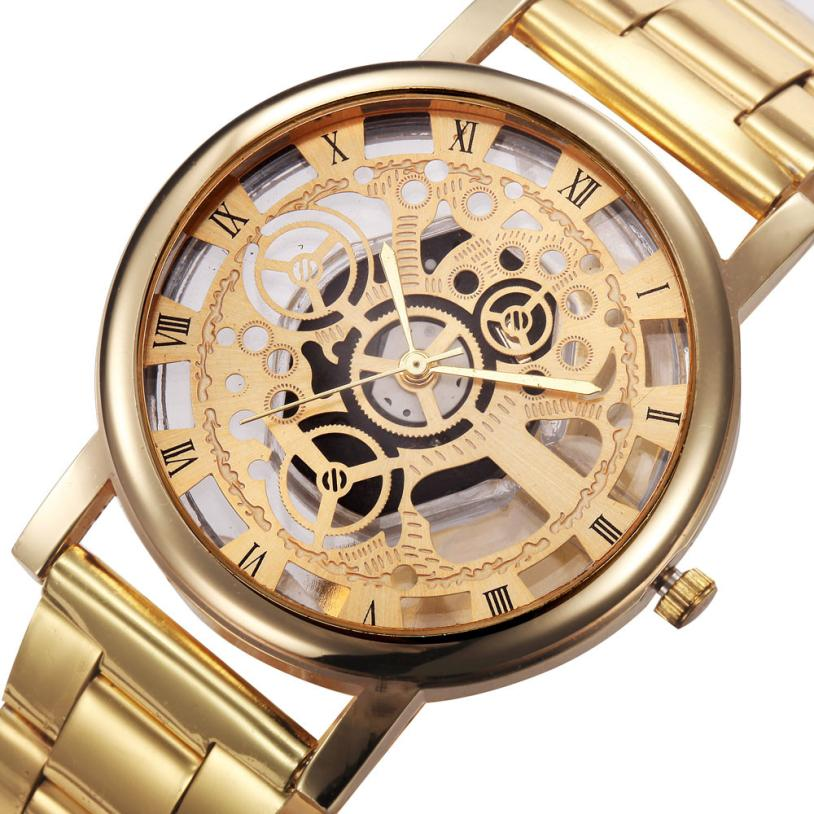 Man Watch Luxury Fashion Unisex Women Dress Sliver Gold Watches Stainless Steel Analog Quartz Wrist Watch Top Brand 2018 Gift - FainWatch