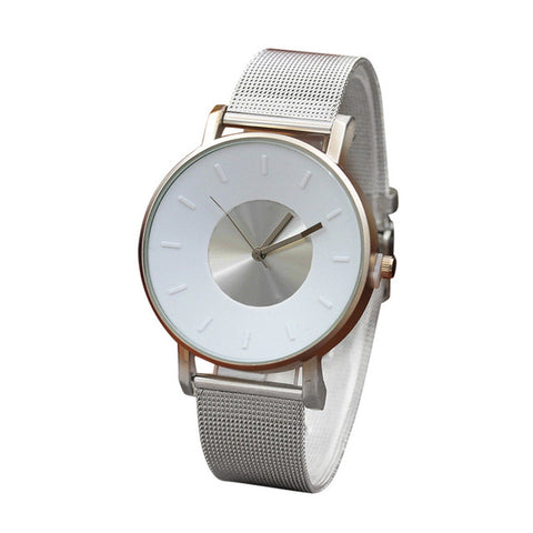 Luxury Brand Quartz Bracelet Watch Women Men Classic Stainless Steel Strap Dress Wrist Watch Fashion Casual Unisex Watches - FainWatch