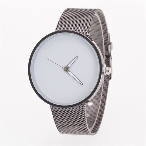 Mens Watches Top Brand Luxury Superior New Women Men Unisex Metal Mesh Band Fashion Quartz Wrist Watch montre femme - FainWatch