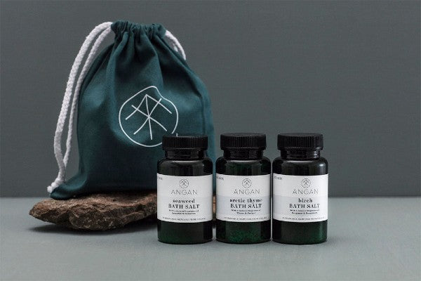 angan iceland bath salts travel pack x aurum jewellery reykjavik mother's day special offer