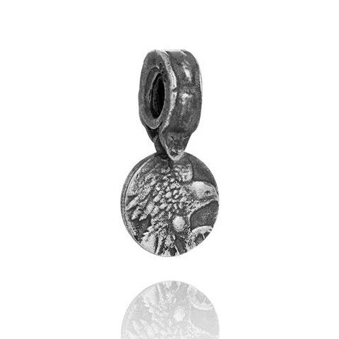 Filia Heritage Falcon charm in oxidized silver