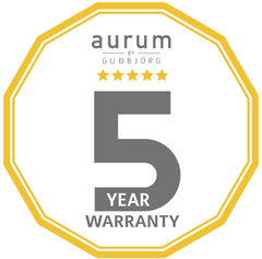 AURUM's 5-year unconditional warranty