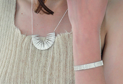 Tuttu necklace and bracelet set by Aurum Icelandic Jewelry