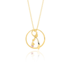 """Bleika slaufan"" Gold-Plated Silver Necklace"