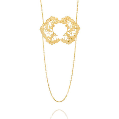 Erika Collection by AURUM Iceland | Statement Necklace in 18k Gold Plated SIlver