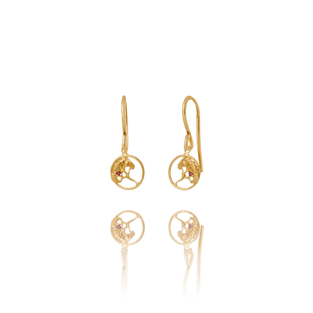 Erika Collection - 18k Gold Plated Silver Earrings - AURUM Icelandic Jewelry