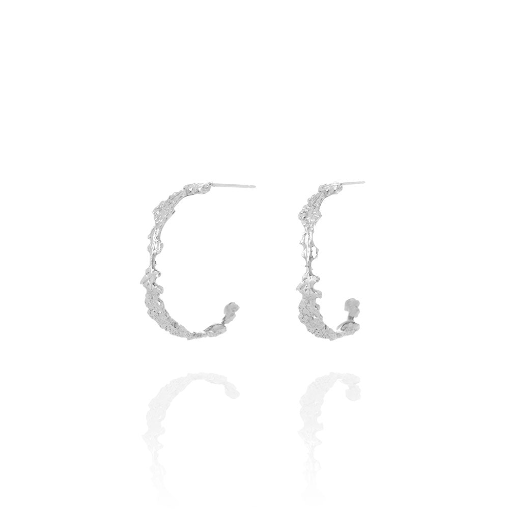 Erika Collection 108 - Hoop Earrings in 925 Sterling Silver - AURUM Icelandic Jewelry