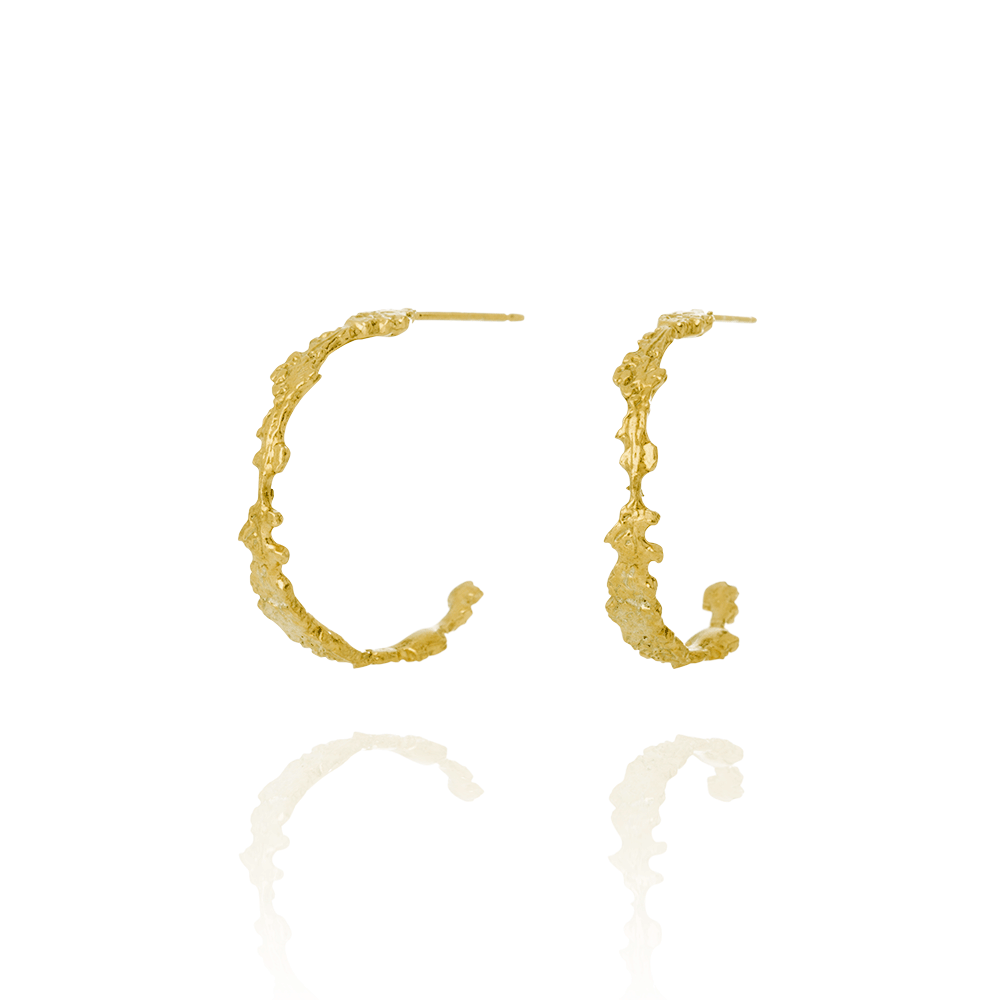 Erika Collection 108 GP - Stud Earrings in Gold-Plated 925 Sterling Silver - AURUM Icelandic Jewelry