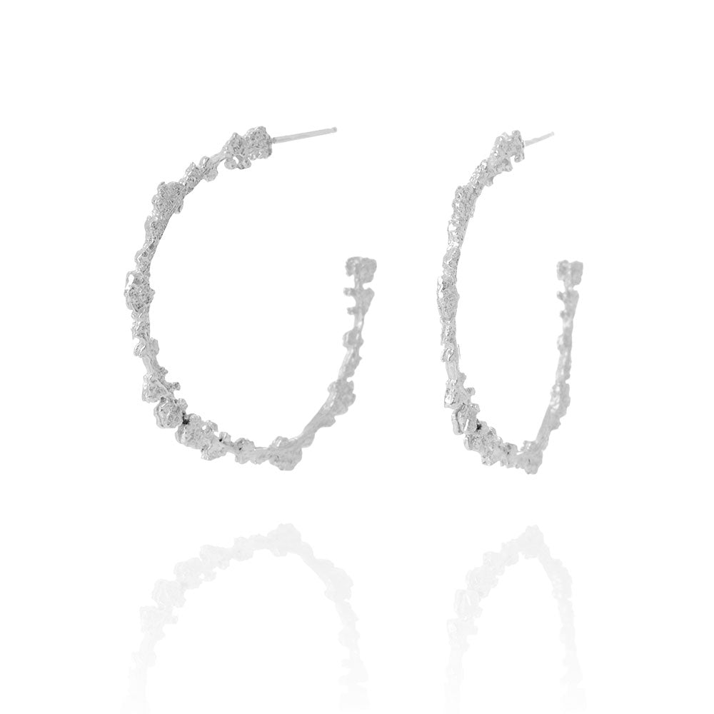 Erika Collection 109 - Hoop Earrings in 925 Sterling Silver - AURUM Icelandic Jewelry