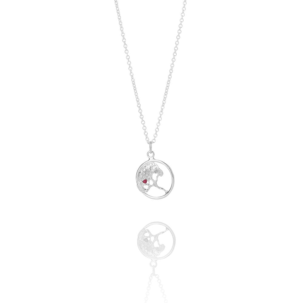 Erika Collection 201 - Sterling Silver Pendant Necklace - AURUM Icelandic Jewelry