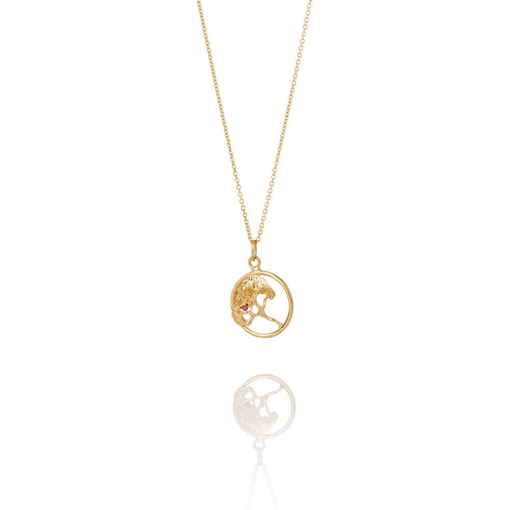 Erika Collection 201 GP - Gold-Plated Sterling Silver Pendant Necklace - AURUM Icelandic Jewelry