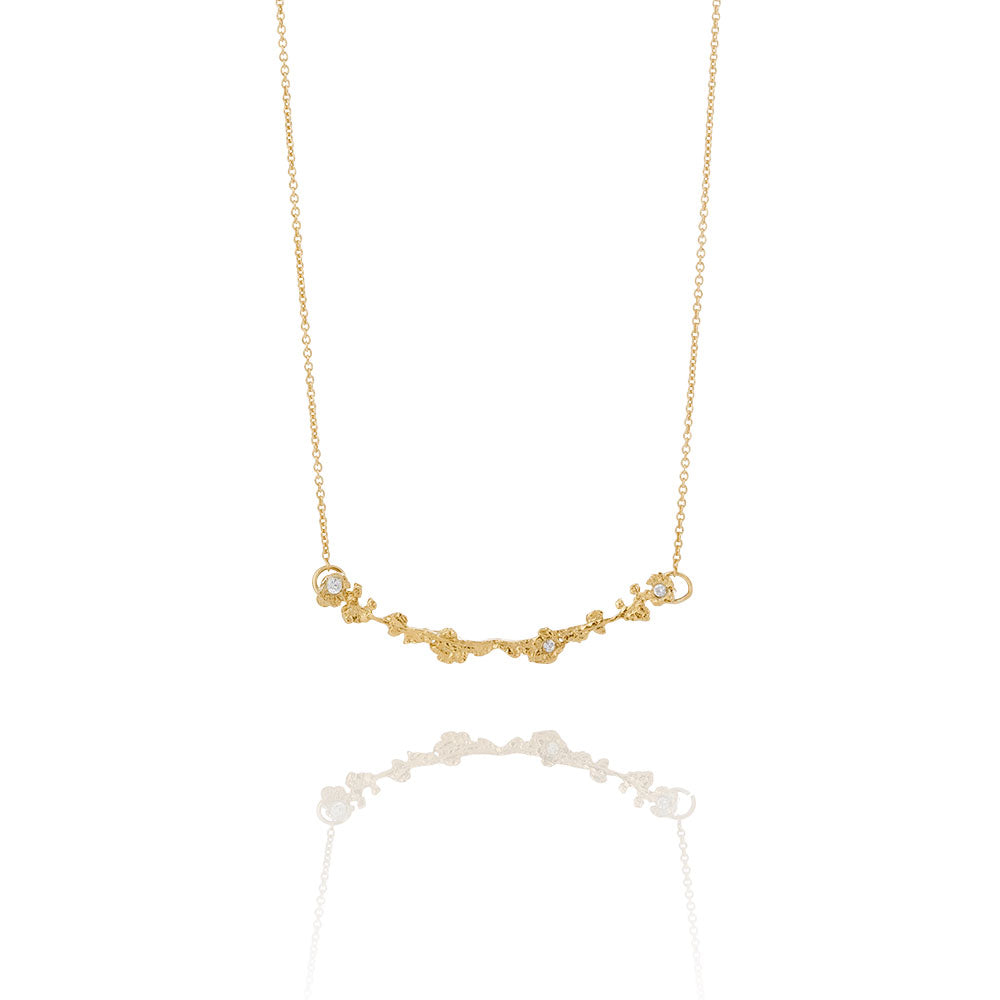 Erika Collection 202 GP - Gold-Plated Sterling Silver Necklace - AURUM Icelandic Jewelry