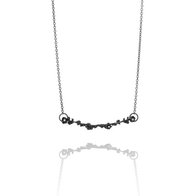 Erika Collection 202 OX - Oxidized Sterling Silver Necklace - AURUM Icelandic Jewelry