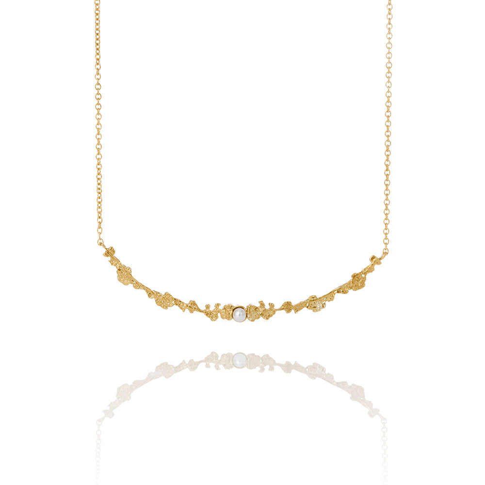 Erika Collection 203 GP - Gold-Plated Sterling Silver Necklace - AURUM Icelandic Jewelry