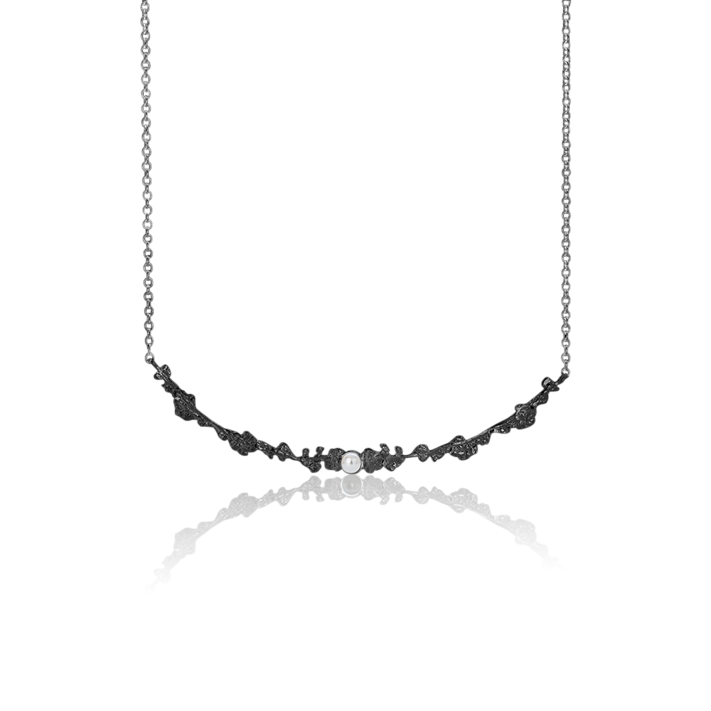 Erika Collection 203 OX - Oxidized Sterling Silver Necklace - AURUM Icelandic Jewelry