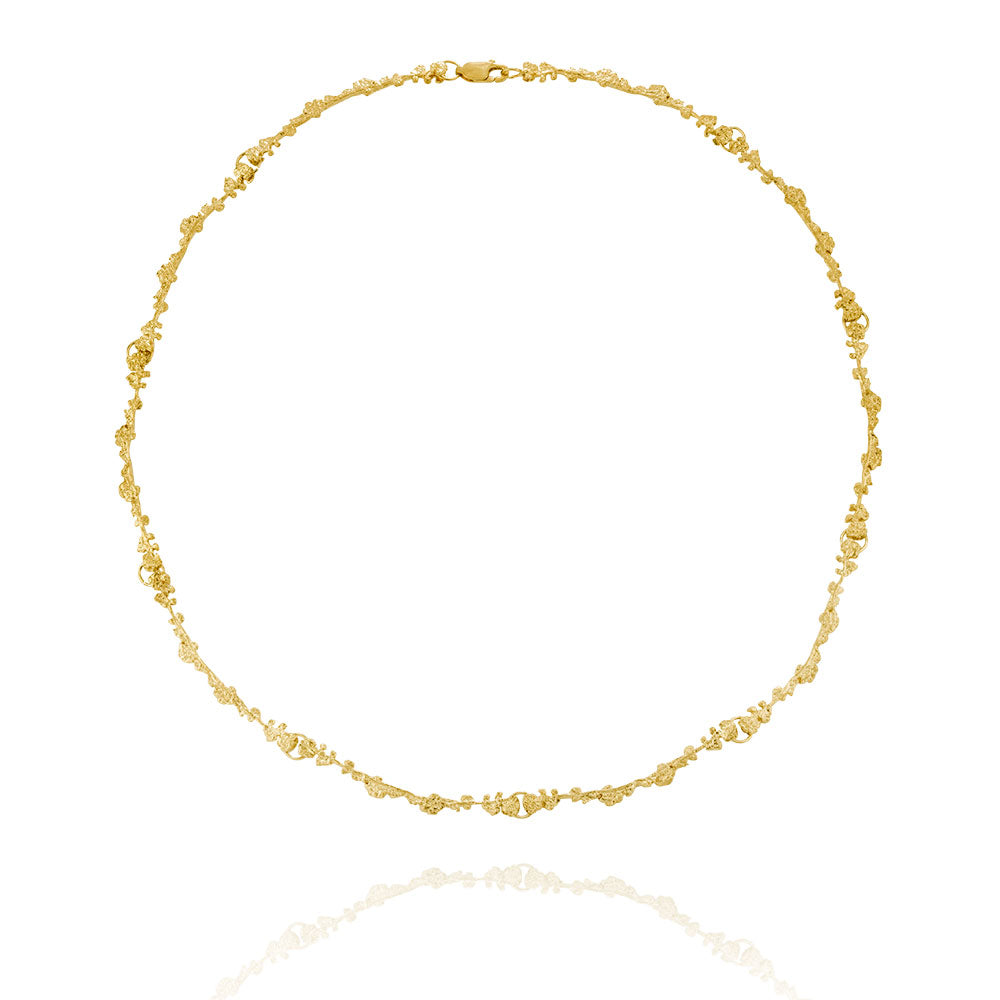 Erika Collection 206 GP - Gold-Plated Sterling Silver Necklace - AURUM Icelandic Jewelry