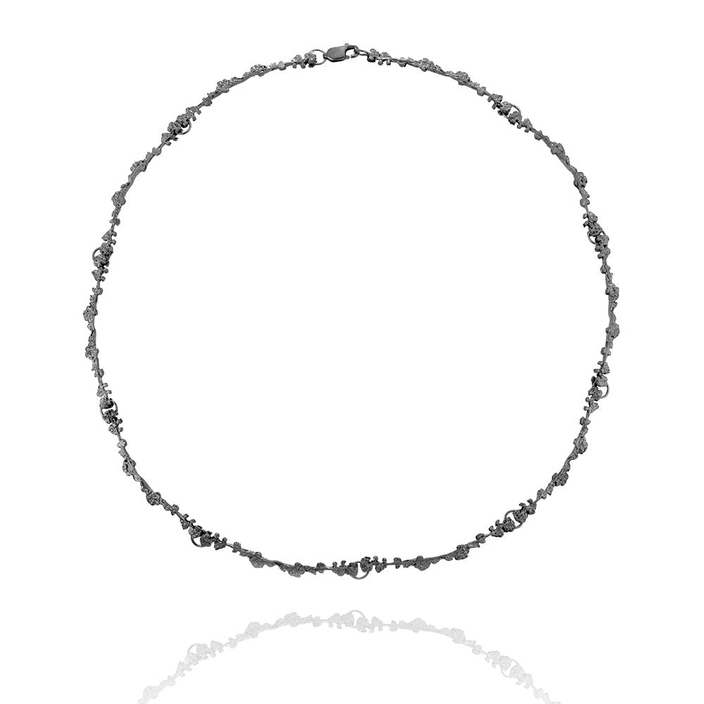 Erika Collection 206 OX - Oxidized Sterling Silver Necklace - AURUM Icelandic Jewelry