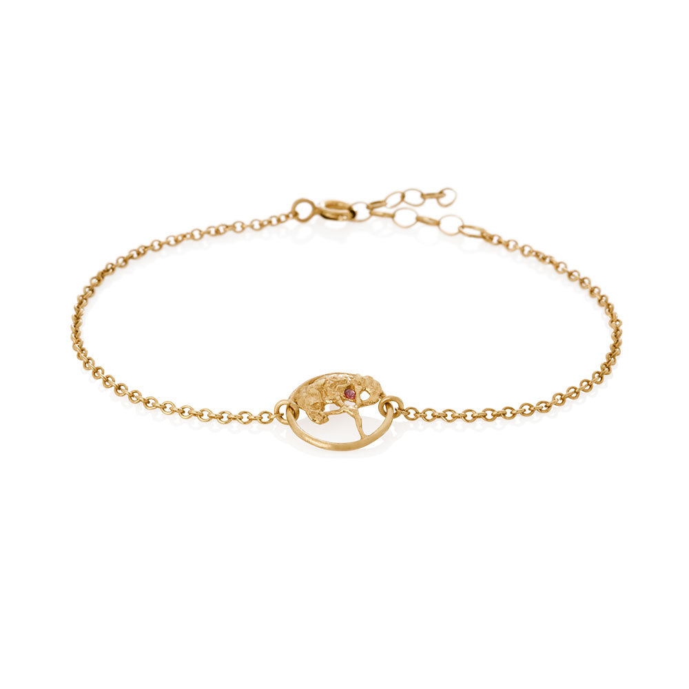 Erika Collection 301 GP - Gold-Plated Sterling Silver Bracelet - AURUM Icelandic Jewelry