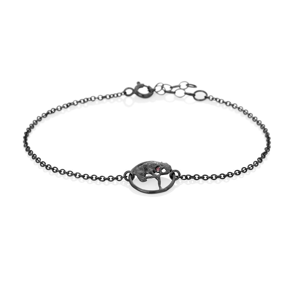 Erika Collection 301 OX - Oxidized Sterling Silver Bracelet - AURUM Icelandic Jewelry