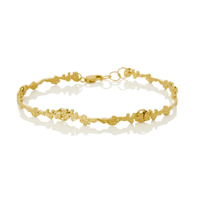 Erika Collection 302 GP - Gold-Plated Sterling Silver Bracelet - AURUM Icelandic Jewelry