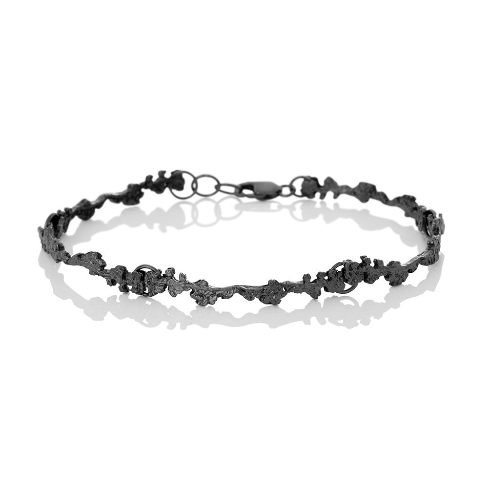 Erika Collection 302 OX - Oxidized Sterling Silver Bracelet - AURUM Icelandic Jewelry
