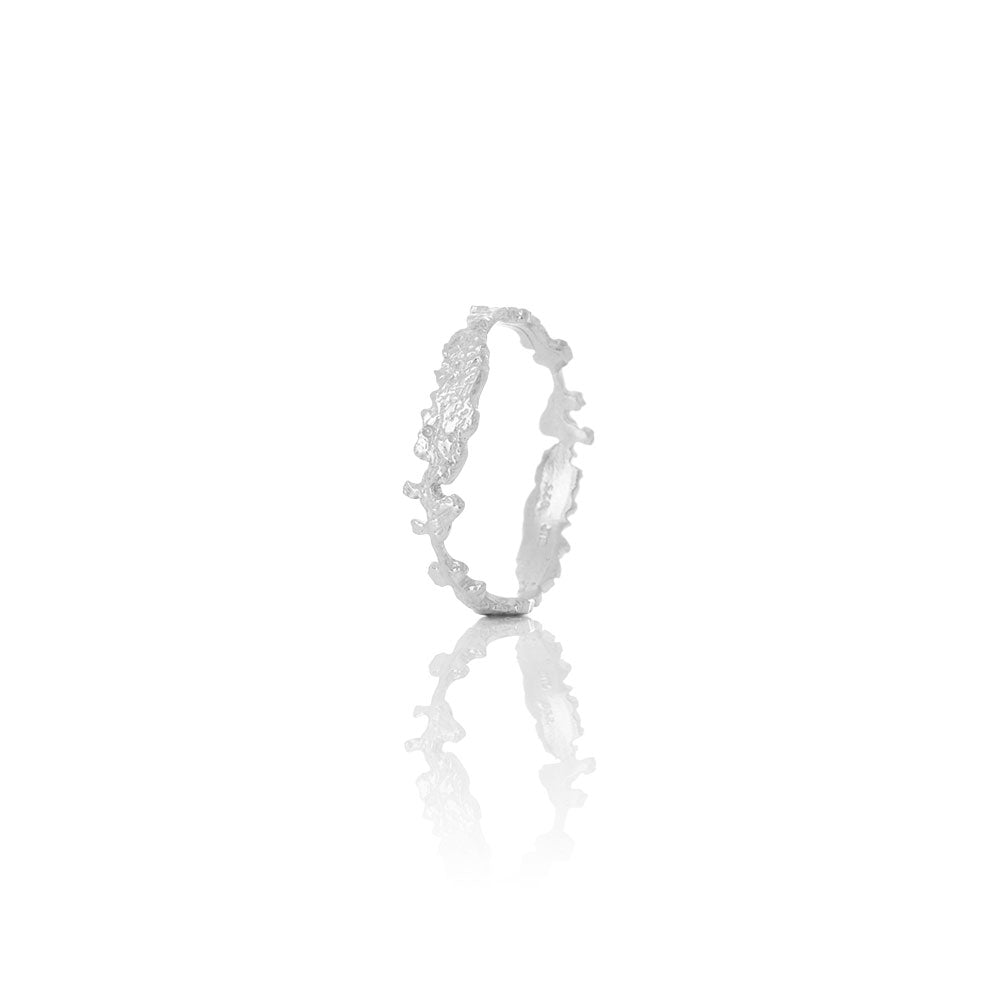 Erika Collection 401 - Sterling Silver Ring Handmade in Iceland by AURUM Jewelry