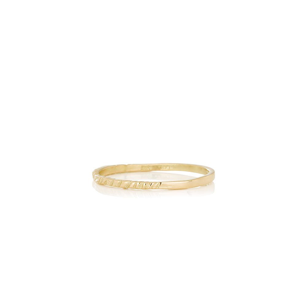 Men's solid gold ring - ICE