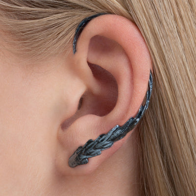 RÁN EAR CRAWLER in Oxidized Silver | Made in Iceland