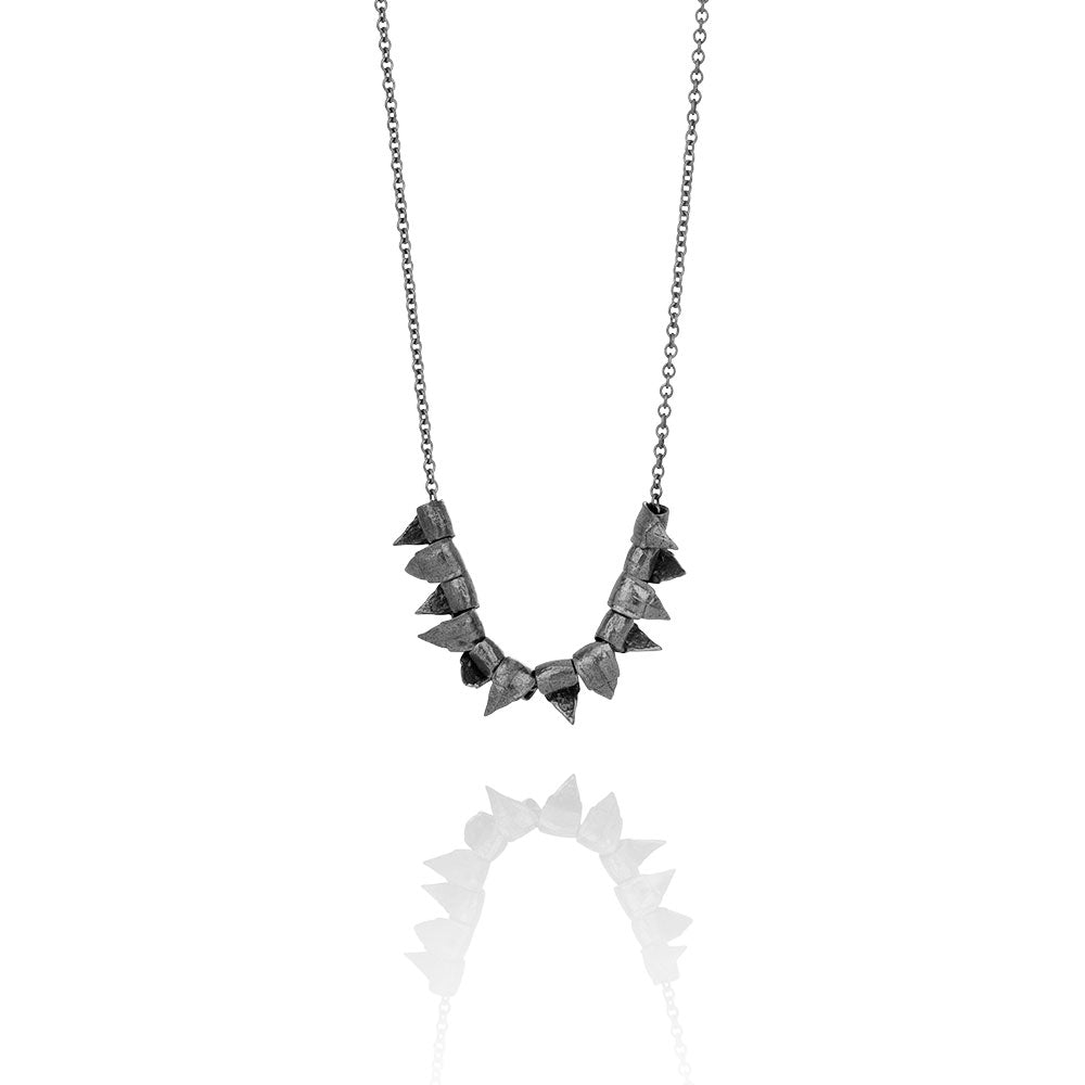 RAN Collection necklace in oxidized sterling silver 204 OX handmade in Iceland