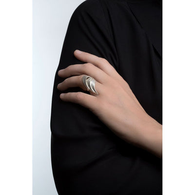SWAN ring 14K solid gold ring
