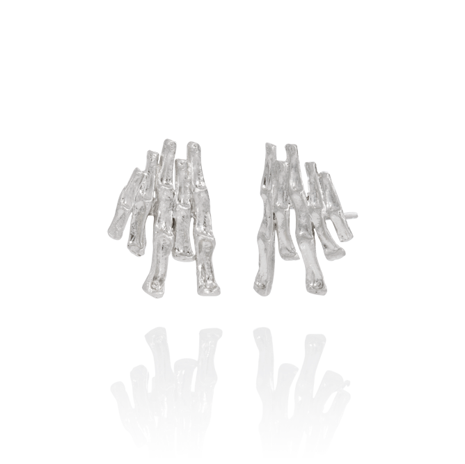 CYGNUS Collection Earrings in Recycled Sterling Silver, Handcrafted in Iceland