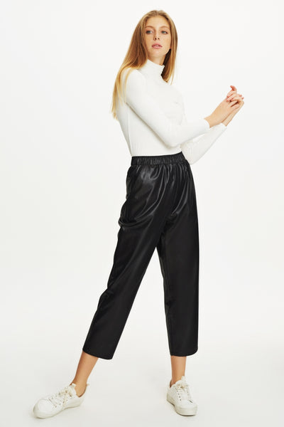 rich and magnificent high quality new lower prices Touche Prive Leather Look Pants