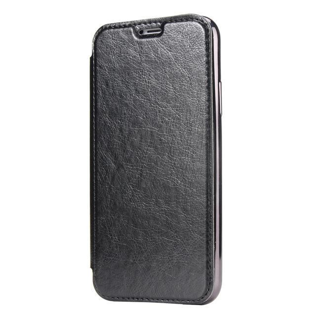 Estuche plegable de cuero de PU para Apple iPhone X