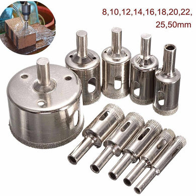 10 unids Diamond Coated Hole Saw Broca