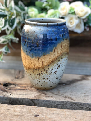Glazed vase - with drainage hole