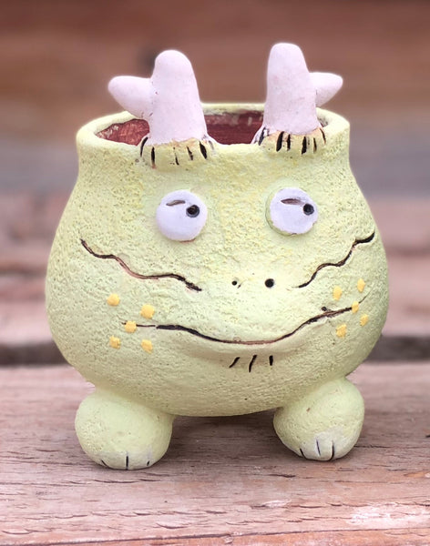 Hand Made Light Green Dragon Pot