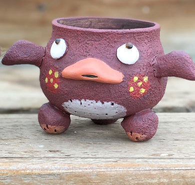 Hand Made Purple Duck Pot