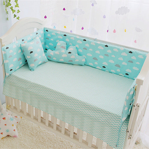 High Quality Newborn Crib Bumpers Set 5pcs