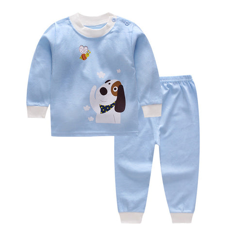 Blue Cute Colorful Baby Suit with Dog