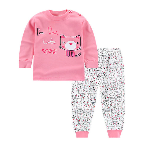 Pink Cute Colorful Baby Suit with Cat