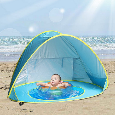 Baby's Personal Beach Covered Mini Pool