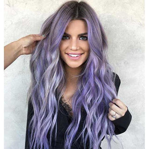 2020 Ins Purple Wave Wig