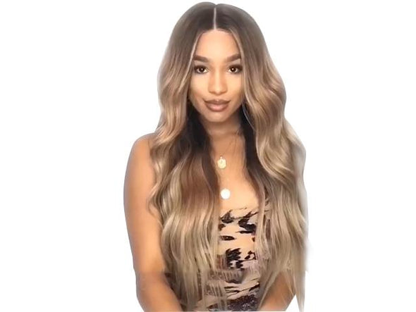 Brown gradation wig