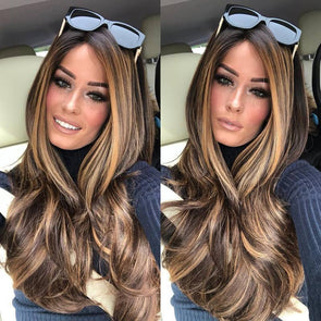 Fashion Curly Brown Long Wig
