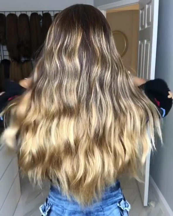 Perfect Brown Golden Wave Wig