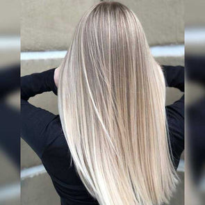 Blended Blonde Straight Long Wig