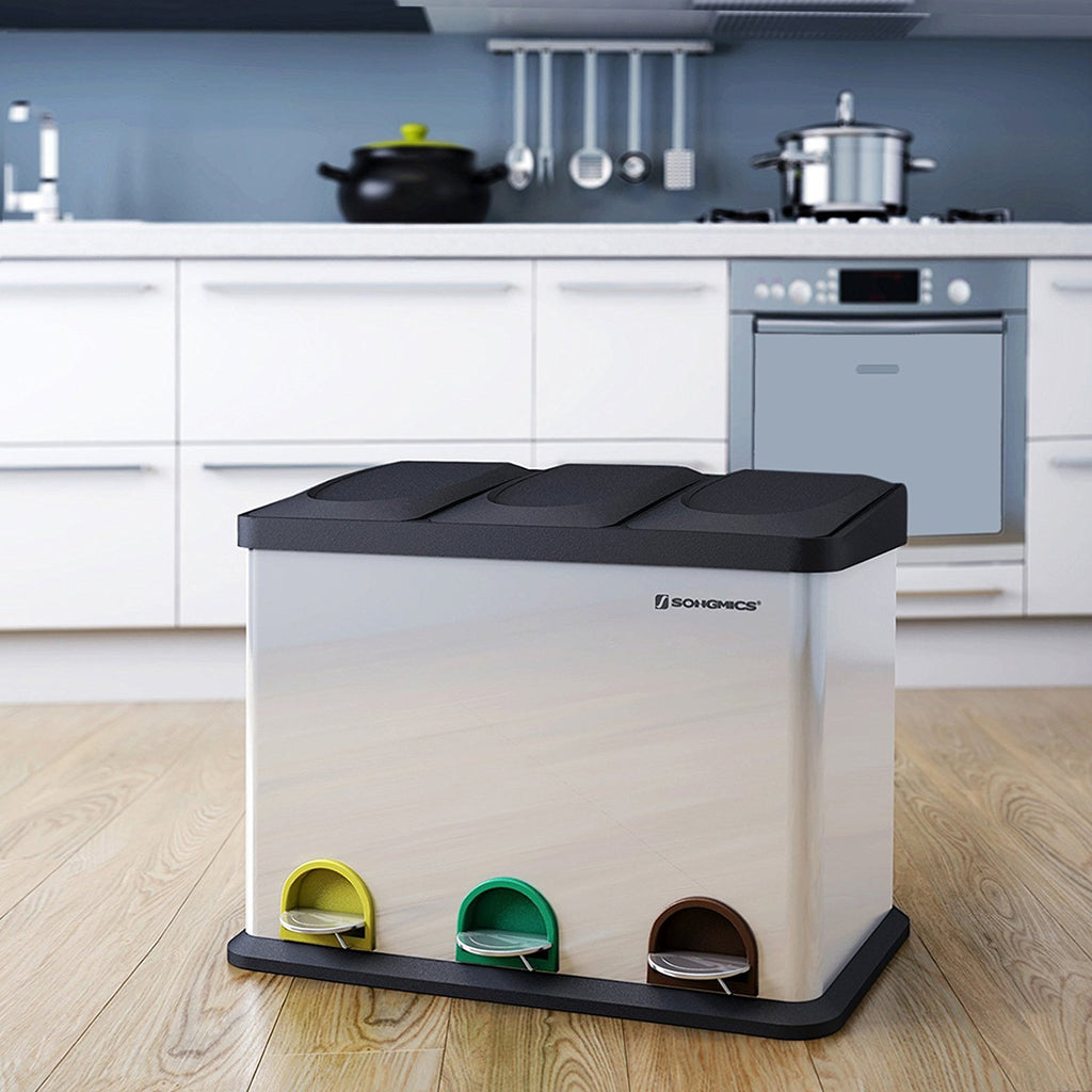 45L Recycling Pedal Bin for Kitchen Waste - My Discount Malta