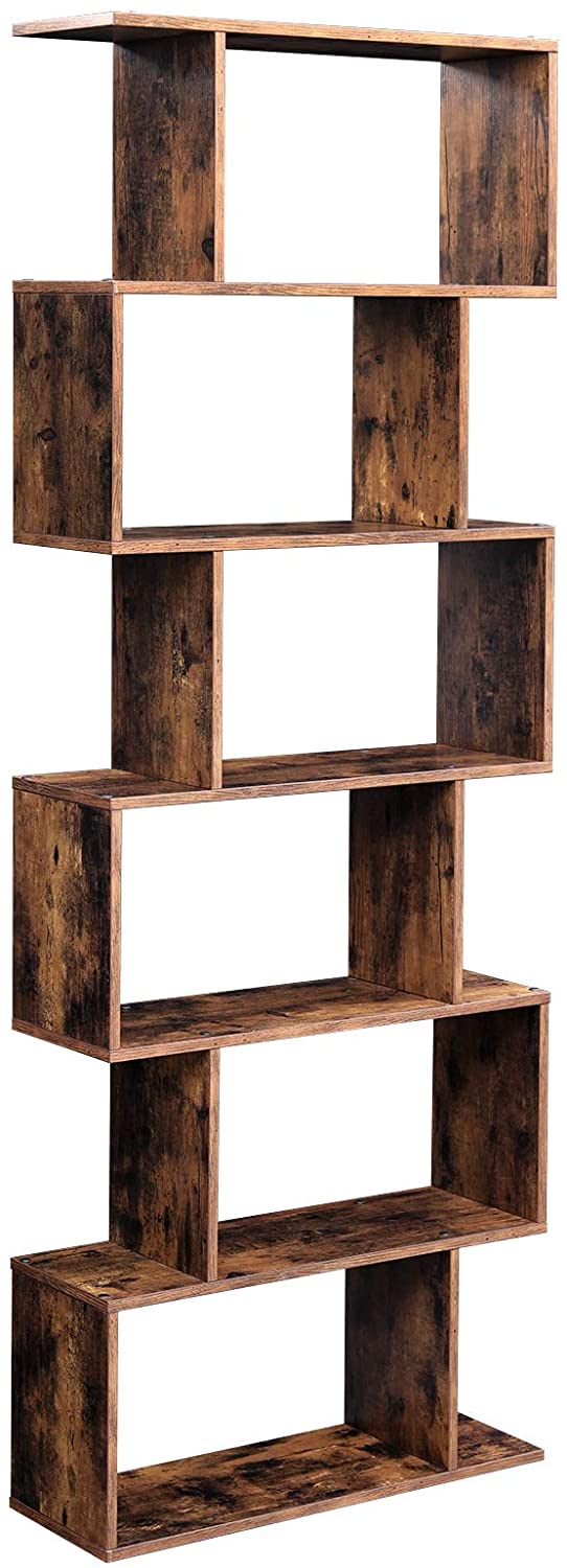 Modern Style Bookshelf  6 levels in wood