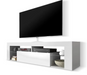 matte white tv cabinet without led
