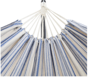 Hammock White and Blue close up